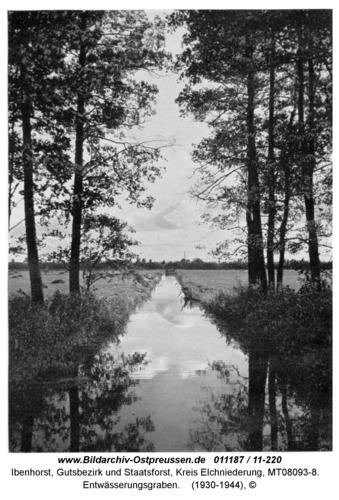 Ibenhorst, Entwässerungsgraben