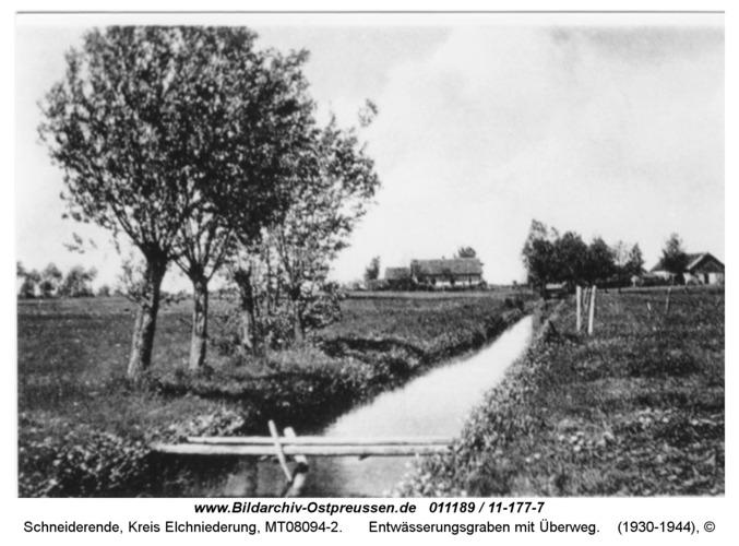Schneiderende, Entwässerungsgraben mit Überweg