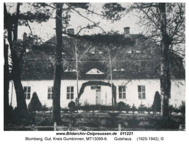 Blumberg Kr. Gumbinnen, Gutshaus