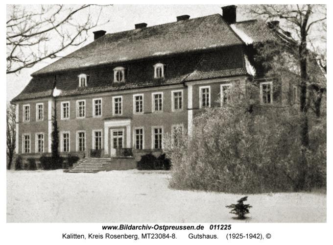 Kalitten, Gutshaus