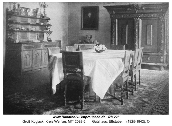 Groß Kuglack, Gutshaus, Eßstube
