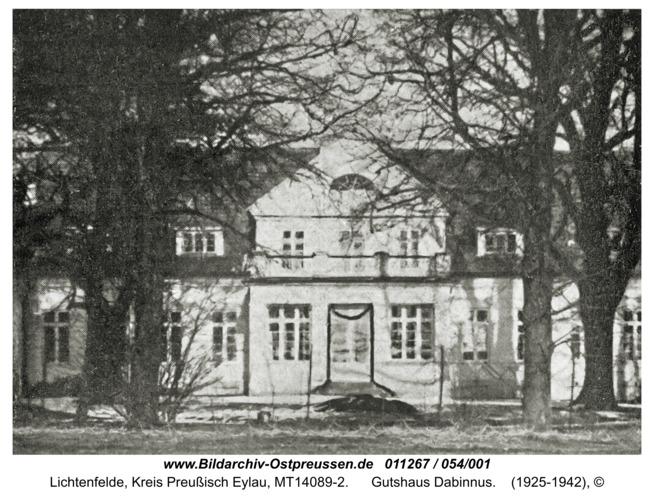 Lichtenfelde, Gutshaus Dabinnus