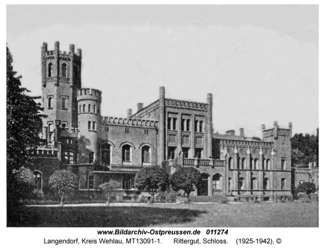 Langendorf Kr. Wehlau, Rittergut, Schloss