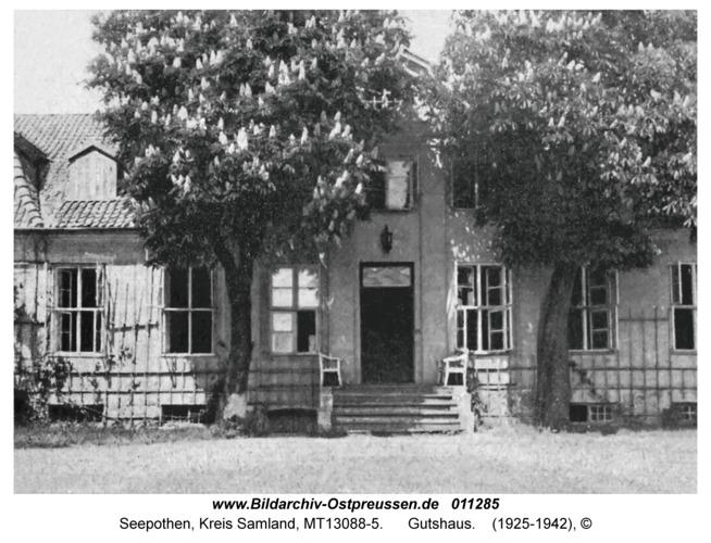Seepothen Kr. Samland, Gutshaus