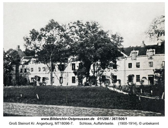 Groß Steinort Kr. Angerburg, Gutshaus, Auffahrtseite