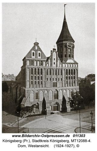 Königsberg, Dom, Westansicht