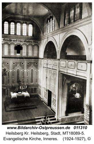 Heilsberg, Evangelische Kirche, Inneres