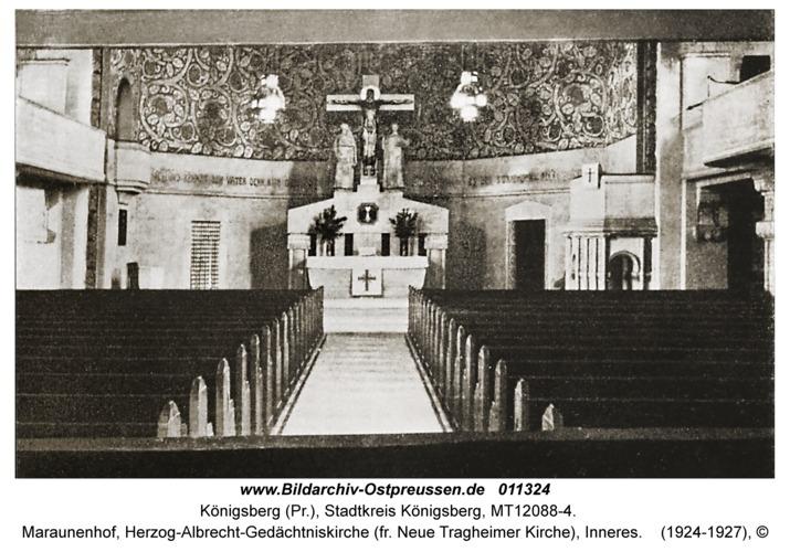 Königsberg, Maraunenhof, Herzog-Albrecht-Gedächtniskirche (fr. Neue Tragheimer Kirche), Inneres