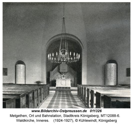 Metgethen, Waldkirche, Inneres