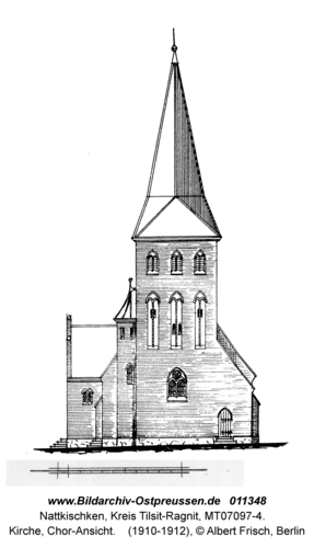 Nattkischken, Kirche, Chor-Ansicht