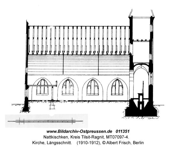 Nattkischken, Kirche, Längsschnitt