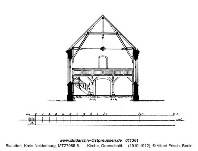 Bialutten, Kirche, Querschnitt
