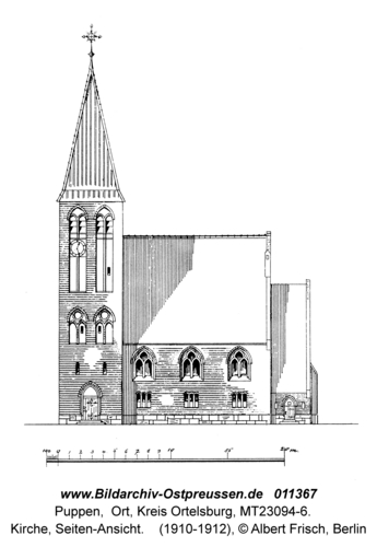 Puppen, Kirche, Seiten-Ansicht