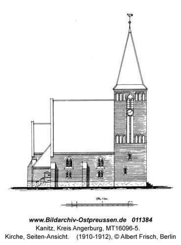 Kanitz, Kirche, Seiten-Ansicht