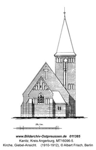 Kanitz, Kirche, Giebel-Ansicht