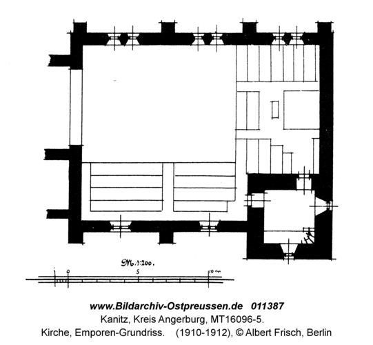 Kanitz, Kirche, Emporen-Grundriss