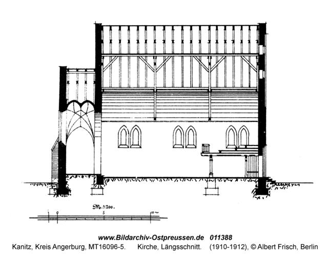 Kanitz, Kirche, Längsschnitt