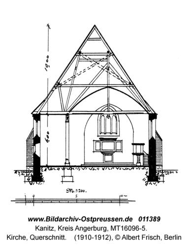 Kanitz, Kirche, Querschnitt