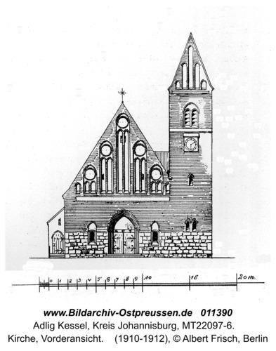 Adlig Kessel, Kirche, Vorderansicht