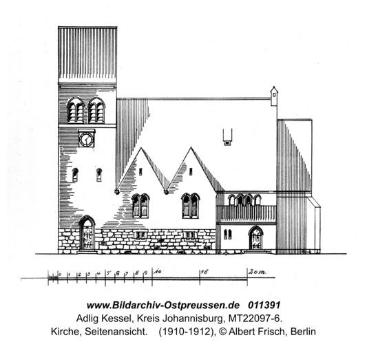 Adlig Kessel, Kirche, Seitenansicht