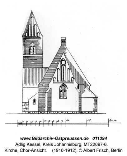 Adlig Kessel, Kirche, Chor-Ansicht