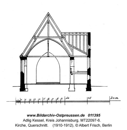 Adlig Kessel, Kirche, Querschnitt