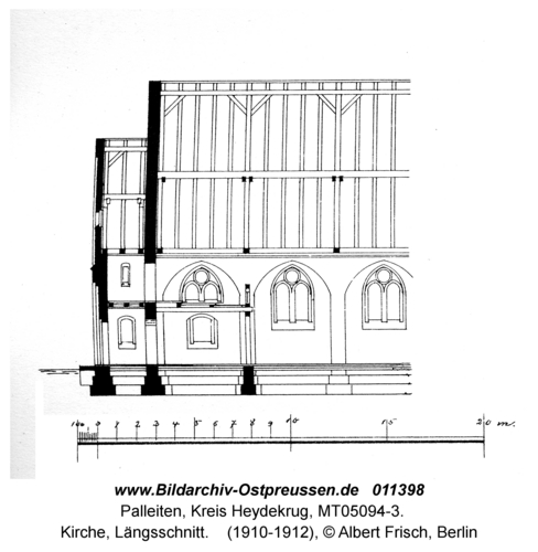 Paleiten, Kirche, Längsschnitt