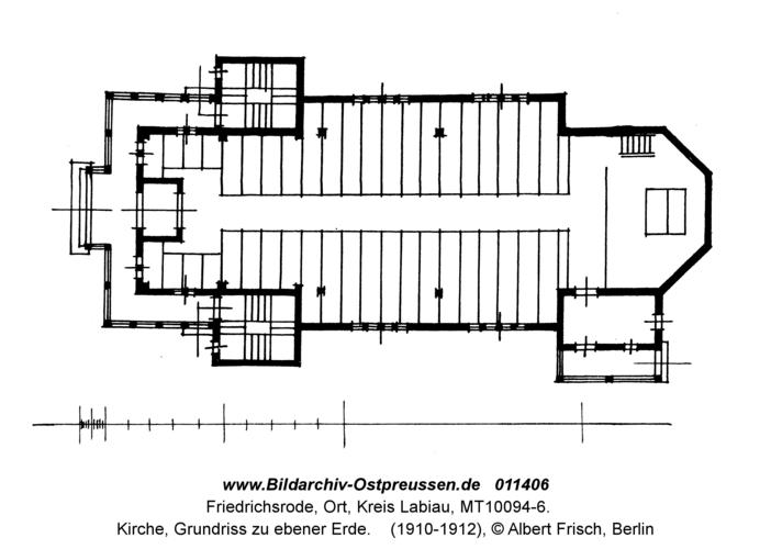 Friedrichsrode, Kirche, Grundriss zu ebener Erde