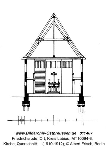 Friedrichsrode, Kirche, Querschnitt