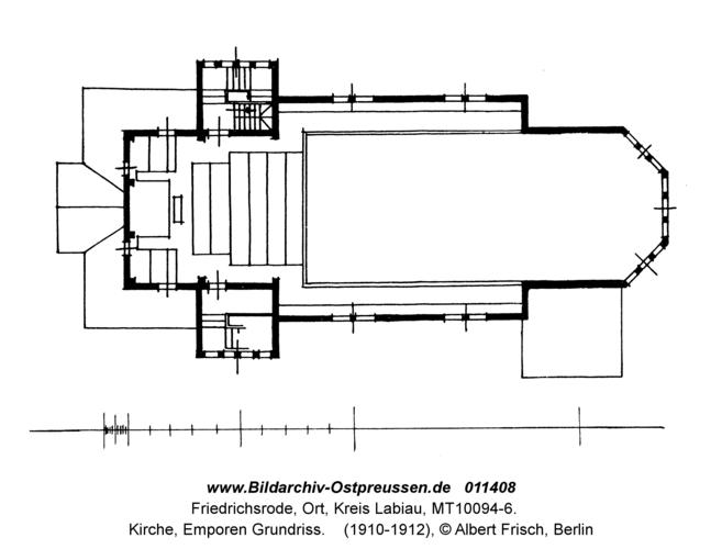 Friedrichsrode, Kirche, Emporen Grundriss