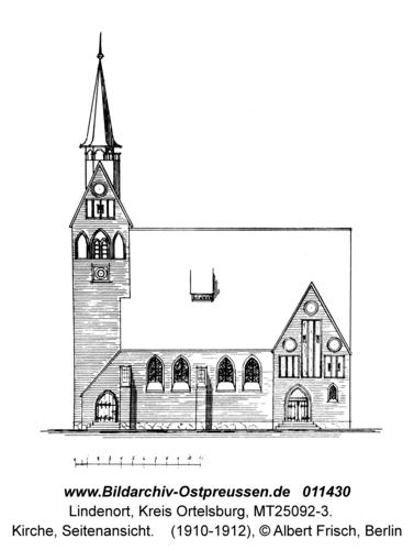 Lindenort, Kirche, Seitenansicht