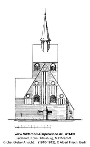 Lindenort, Kirche, Giebel-Ansicht