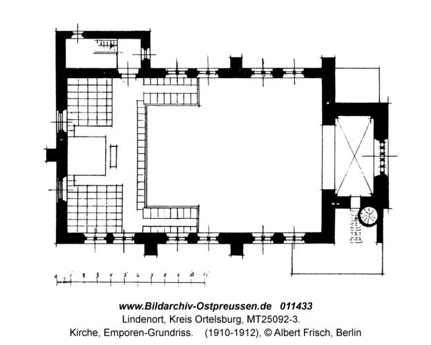 Lindenort, Kirche, Emporen-Grundriss