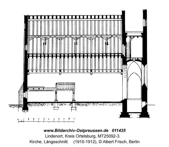 Lindenort, Kirche, Längsschnitt