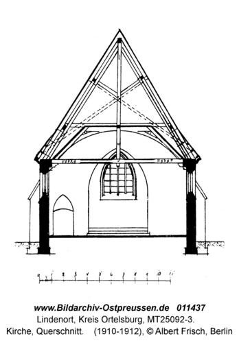 Lindenort, Kirche, Querschnitt