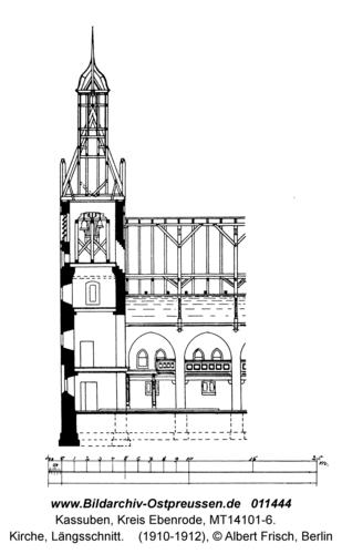 Kassuben, Kirche, Längsschnitt