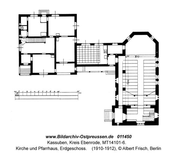 Kassuben, Kirche und Pfarrhaus, Erdgeschoss