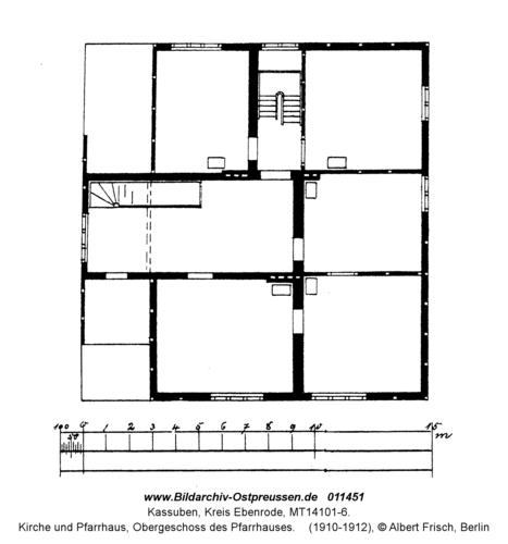 Kassuben, Kirche und Pfarrhaus, Obergeschoss des Pfarrhauses