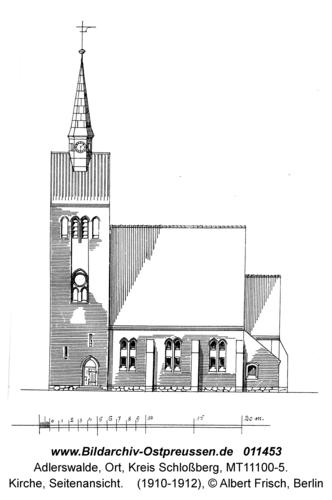 Adlerswalde, Kirche, Seitenansicht