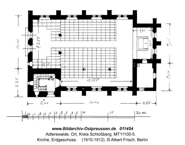 Adlerswalde, Kirche, Erdgeschoss