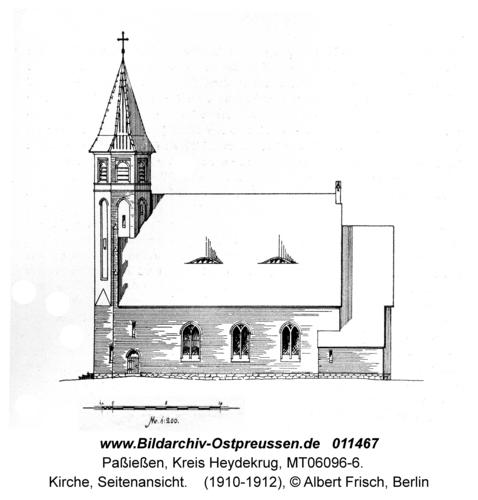 Paßießen, Kirche, Seitenansicht