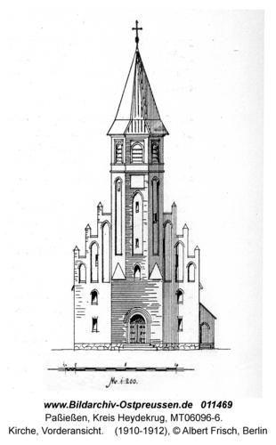 Paßießen, Kirche, Vorderansicht