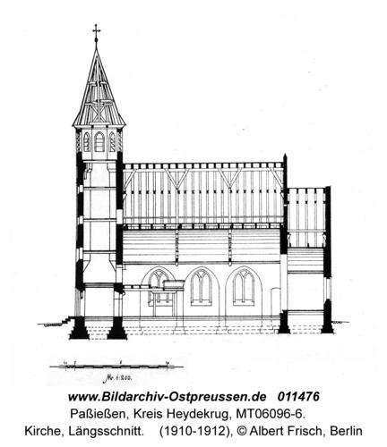 Paßießen, Kirche, Längsschnitt