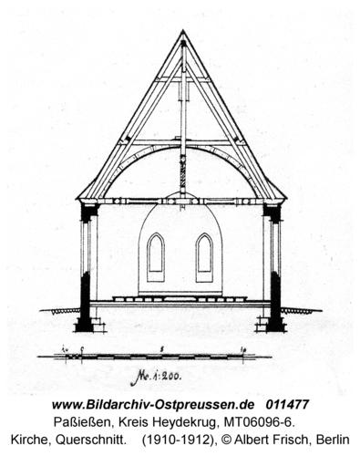 Paßießen, Kirche, Querschnitt