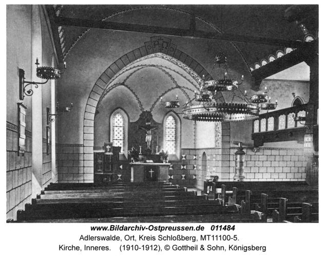 Adlerswalde, Kirche, Inneres