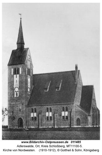 Adlerswalde, Kirche von Nordwesten
