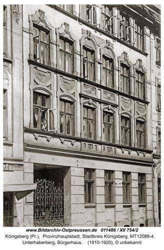 Königsberg, Unterhaberberg, Bürgerhaus