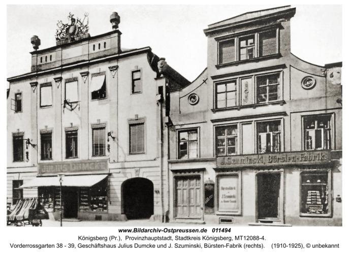 Königsberg, Häuser im Vorderroßgarten
