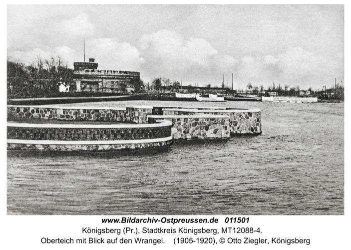 Königsberg, Oberteich mit Blick auf den Wrangel