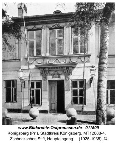 Königsberg, Zschocksches Stift, Haupteingang